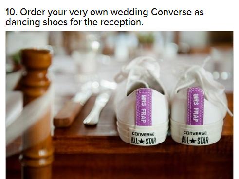 Fun wedding idea