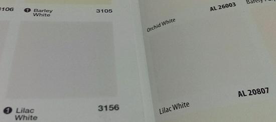 Nippon Lilac White VS Dulux Lilac White
